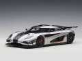 Koenigsegg One 1 Moon Grey and Carbon B 1:18 79017