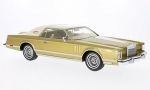 Lincoln Continental MkV Coupe gold hel 1:18 BOS326