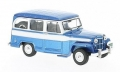 Jeep Willys Station Wagon Blue White  1:43 CLC261