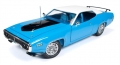Plymouth Roadrunner Blue white 1971 1 1:18 AMM1012