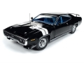 Plymouth GTX Hard Top 1971  Black Vel 1 1:18 AMM11