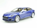 Tesla Model S 2012 Blue 1:18 LS028A