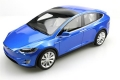 Tesla Model X  2016 blue metallic 1:18 LS030A