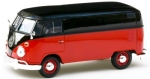 Volkswagen T1 Box Wagon (black/red) 1:24 79342