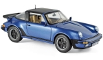 Porsche 911 Turbo Targa 3.3 1987 blue  1:18 187663