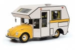 VW Beetle Motorhome Yellow - white 1:18 450011300
