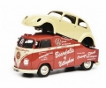 VW T1a bus with VW Beetle body red  1:43 450907800
