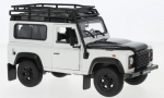 Land Rover Defender white black with  1:24 WE24021
