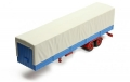 TRUCK Trailer with Canvas cover - Grey 1:43 TRL001